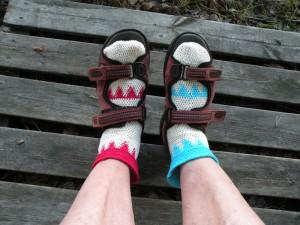 sandaaleissa